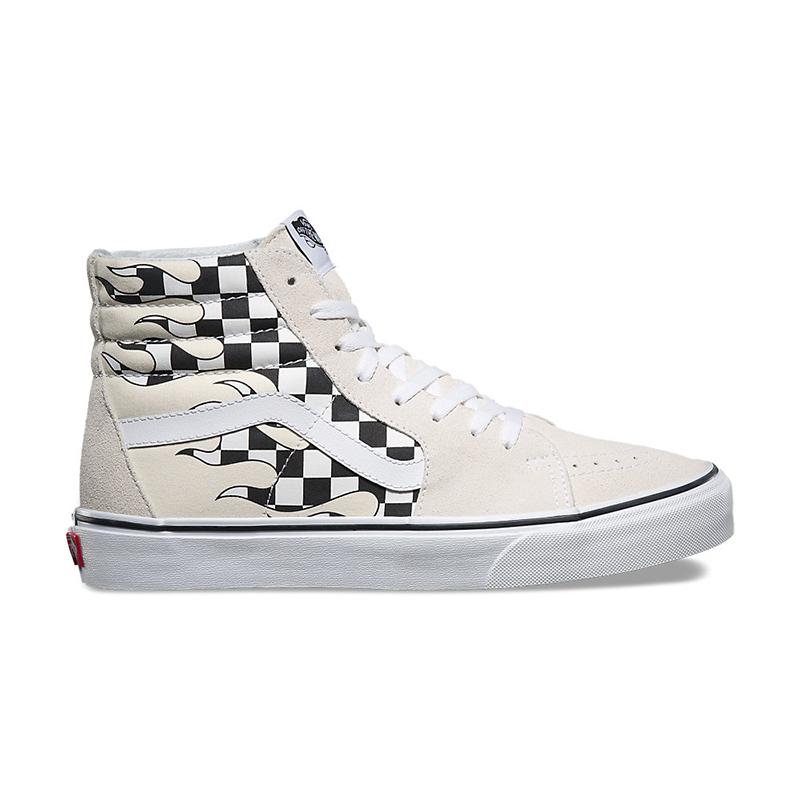 Giày Vans Checker Flame Sk8-Hi Chính Hãng Giá Rẻ Uy Tín tại TpHCM