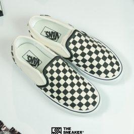 Giày Vans Checkerboard Slip-On-WhiteChính Hãng Giá Rẻ Tp.Hcm| BaloVNXK| Authentic Sneaker | BH 1 Năm